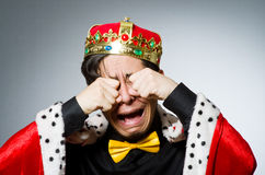 Concept of king businessman Royalty Free Stock Images
