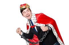Concept of king businessman Royalty Free Stock Photos