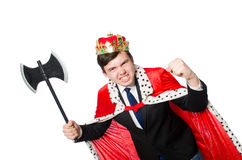 Concept of king businessman Royalty Free Stock Image