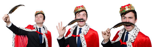The concept of king businessman with crown Royalty Free Stock Photos