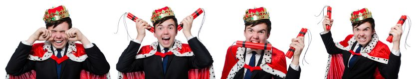 The concept of king businessman with crown. Concept of king businessman with crown stock image