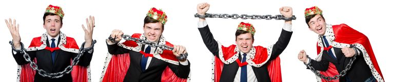The concept of king businessman with crown Royalty Free Stock Photography