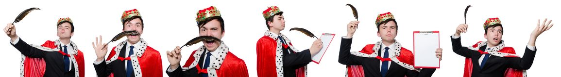 The concept of king businessman with crown Stock Photo