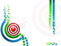 Concept kleurrijk rssachtergrond. Stock Afbeelding