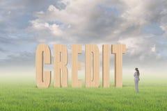 Concept krediet Stock Foto's