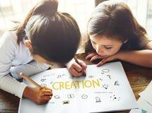 Concept léger de développement d'arts d'imagination de Bule d'idées de création Image stock