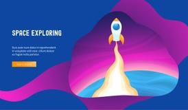 concept l'explorant de l'espace illustration stock