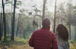 Concept l'explorant de vacances de voyage de couples Photographie stock