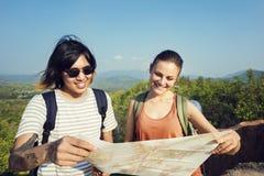 Concept l'explorant de vacances de voyage de couples Images stock