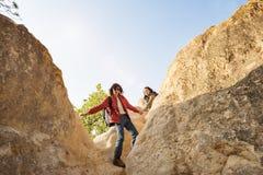 Concept l'explorant de vacances de voyage de couples Photographie stock libre de droits