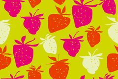 Concept laconic strawberries seamless pattern. Ripe summer berries modern style repeatable motif for surface design Royalty Free Stock Photos