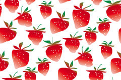 Concept laconic strawberries seamless pattern. On white background. ripe summer berries modern style repeatable motif for surface design Stock Image
