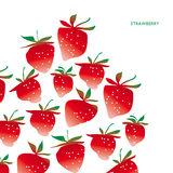 Concept laconic strawberry design element. Ripe summer berry modern header, greeting card,  invitation Stock Photo