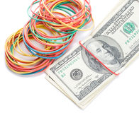 Concept last dollars in desk Stock Images