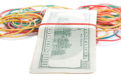 Concept last dollars in desk isolated Royalty Free Stock Photo