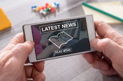Concept of latest news Stock Photography
