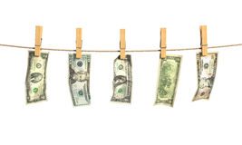Concept of laundering of money. Stock Images