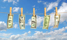 Concept of laundering of money. Royalty Free Stock Images