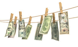 Concept of laundering of money. Royalty Free Stock Image