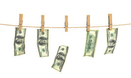 Concept of laundering of money. Royalty Free Stock Photo