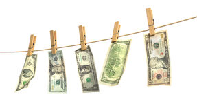 Concept of laundering of money. Stock Photos