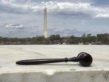 Gavel with Washingon Monument. Photo image stock photography