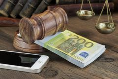 Concept For Law, Corruption, Bankruptcy royalty free stock photos