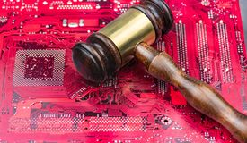 Concept law judge image for internet