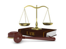 Concept of law and justice Royalty Free Stock Images