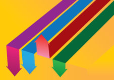 Concept layout of colorful arrows. Stock Photo