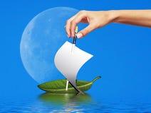 Concept - le ship& x27 ; lancement de s Photographie stock