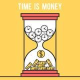 Concept le temps, c'est de l'argent Photographie stock libre de droits