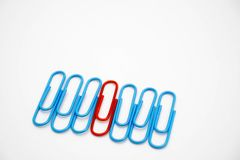 Concept leaders. Use paper clips royalty free stock image