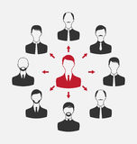 Concept of leadership, community business people Stock Photography