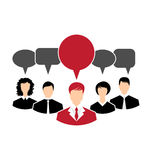Concept of leadership, dialog speech bubbles Royalty Free Stock Image