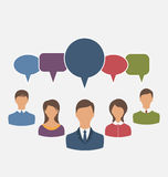 Concept of leadership, dialog speech bubbles Stock Images