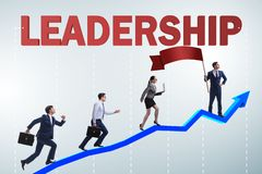 The concept of leadership with many business situations royalty free stock image