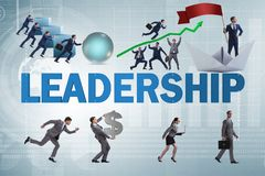 The concept of leadership with many business situations royalty free stock images