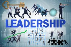 The concept of leadership with many business situations stock photo