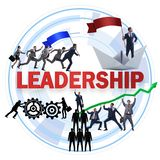 The concept of leadership with many business situations royalty free stock photography