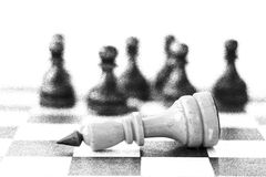 Concept of leadership, success, motivation. Chess pieces on the Board. Royalty Free Stock Photos