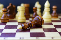 Concept of leadership, success, motivation. Chess pieces on the Board. Concept of leadership, success, motivation. Chess pieces on the Board Royalty Free Stock Photo