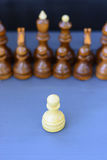 Concept of leadership, success, motivation. Chess pieces on the Board. Royalty Free Stock Images