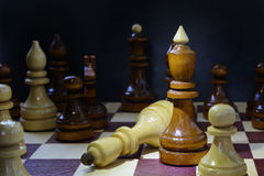 Concept of leadership, success, motivation. Chess pieces on the Board. Stock Images