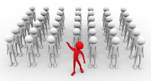 Concept of leadership and team work Royalty Free Stock Photo