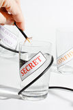 Concept for leaking of secret information Royalty Free Stock Photography