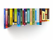 Concept of learning. Books on the shelf. Royalty Free Stock Images