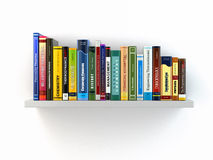 Concept of learning. Books on the shelf. Stock Images