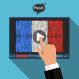 Concept of learning languages. Study French. Royalty Free Stock Photography