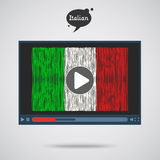 Concept of learning languages. Study Italian. Royalty Free Stock Images